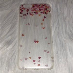 Accessories - Clear iPhone 6 case with Pink Hearts